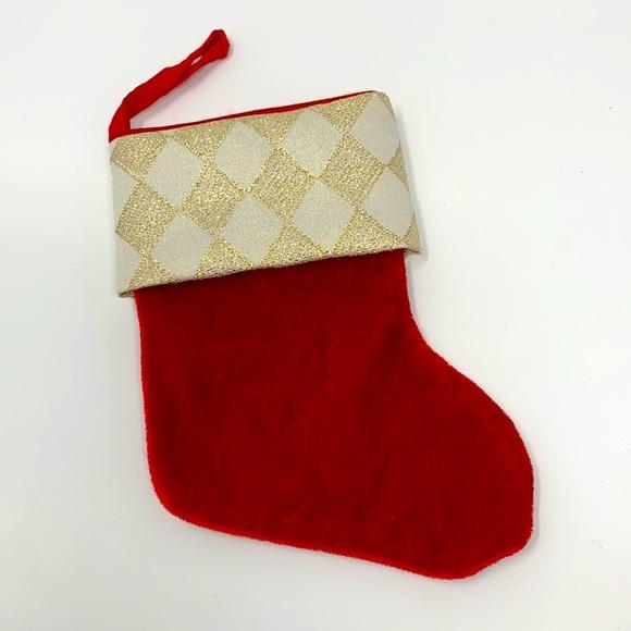 Small Santa boot stocking Christmas decoration